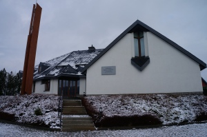 The church with snow..... compared to last weeks photo.....